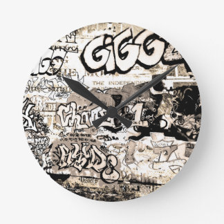 Horloge Ronde Graffiti
