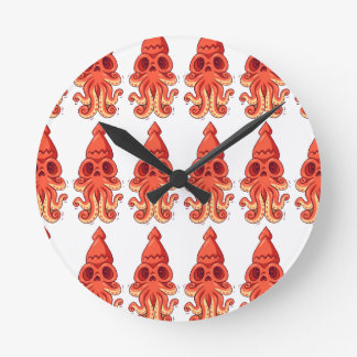 Horloge Ronde Grand poulpe mignon
