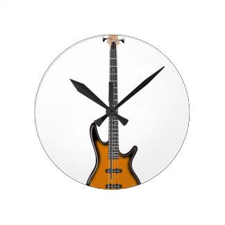 Horloge Ronde Guitare basse électrique