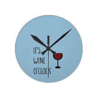 Horloge Ronde Heure de vin