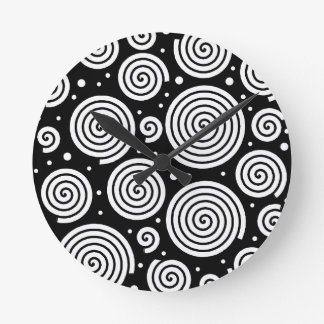 Horloge Ronde Hypnoses noires et blanches