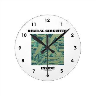 Horloge Ronde Intérieur de circuits de Digitals (carte)