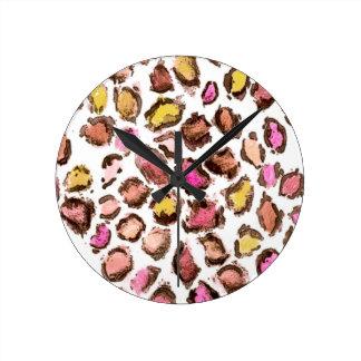 Horloge Ronde Jaguar Print