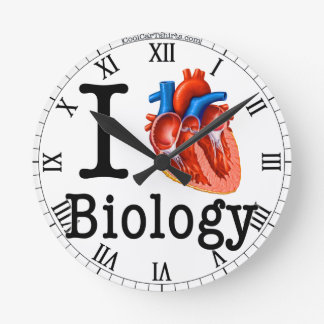 Horloge Ronde J'aime la biologie