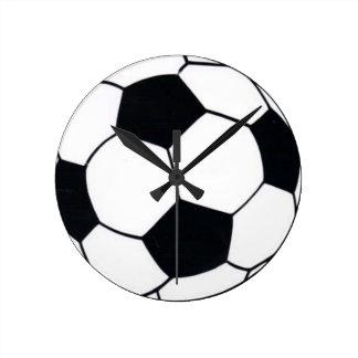 HORLOGE RONDE J'AIME LE FOOTBALL (LE FOOTBALL)