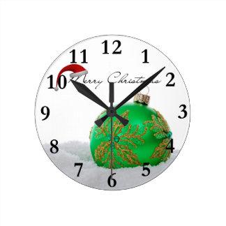 Horloge Ronde Joyeux Noël
