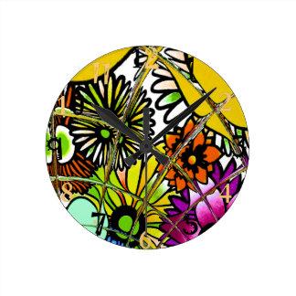 Horloge Ronde La dernière conception florale extraordinaire
