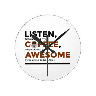 Horloge Ronde Le café de boissons soit impressionnant