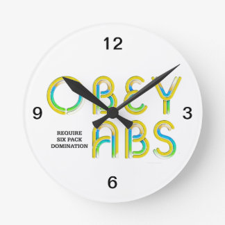 Horloge Ronde Le DESSUS obéissent l'ABS