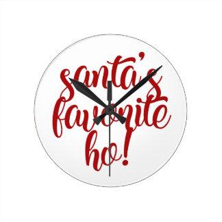 Horloge Ronde Le favori de Père Noël Ho !