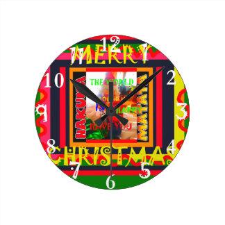 Horloge Ronde Le Joyeux Noël le monde autour de moi est heureux