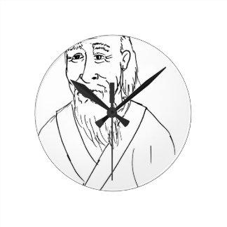 Horloge Ronde Le Laotien Tzu