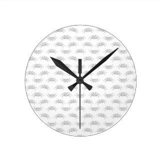 Horloge Ronde Le style d'art de bruit marche en crabe le motif