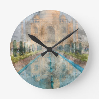 Horloge Ronde Le Taj Mahal à Âgrâ Inde
