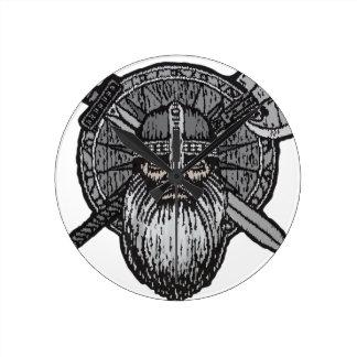 Horloge Ronde les norses nordiques germaniques d'homme de Viking