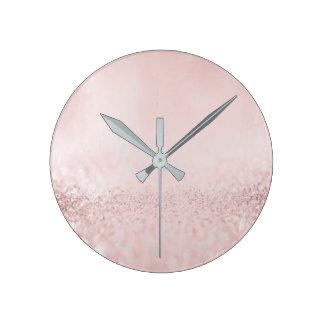 Horloge Ronde L'haricot métallique minimal de gris argenté de