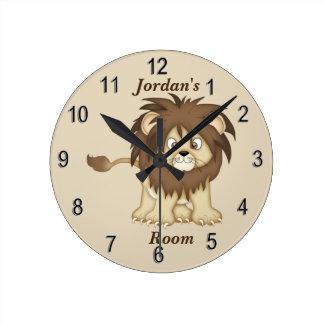 Horloge Ronde Lion mignon de bébé de l'horloge de l'enfant