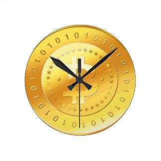 Horloge Ronde Logo de Bitcoin