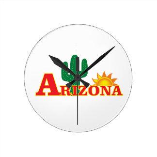 Horloge Ronde Logo de l'Arizona simple