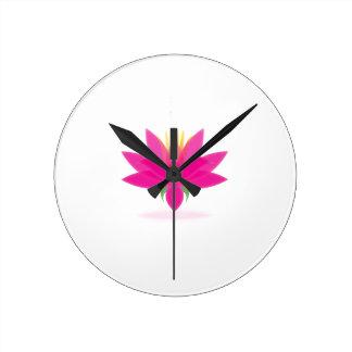 Horloge Ronde lotus