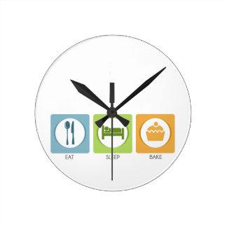 Horloge Ronde Mangez le sommeil font cuire au four !