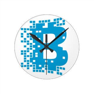 Horloge Ronde Marchandises de Bitcoin