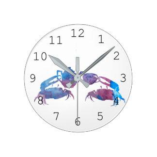 Horloge Ronde Marche en crabe l'art