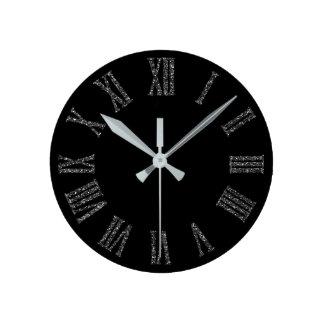 Horloge Ronde Métal minimal argenté gris de parties