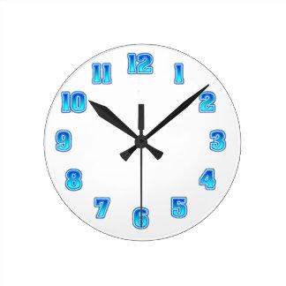 Horloge Ronde Modèle bleu de effacement d'horloge