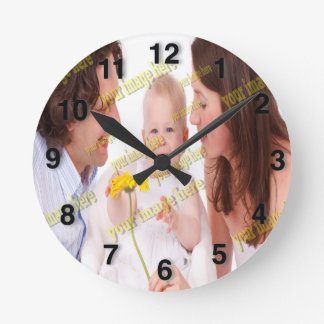 Horloge Ronde Modèle de budget de famille de photo