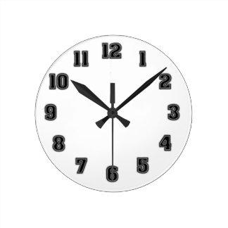Horloge Ronde Modèle noir d'horloge