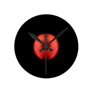 Horloge Ronde Moitié deux de photographie rouge de beaux-arts