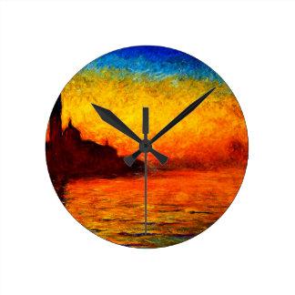 Horloge Ronde Monet-Coucher du soleil de Claude à Venise