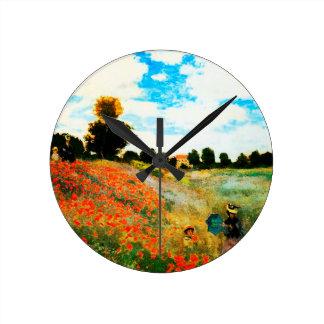 Horloge Ronde Monet-Pavots de Claude à Argenteuil