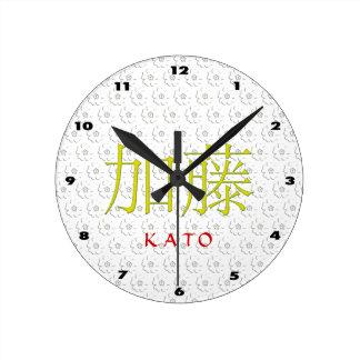 Horloge Ronde Monogramme de Kato