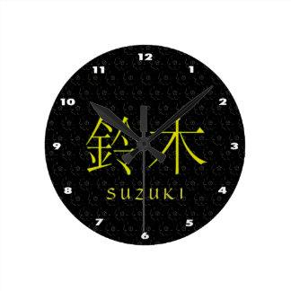 Horloge Ronde Monogramme de Suzuki