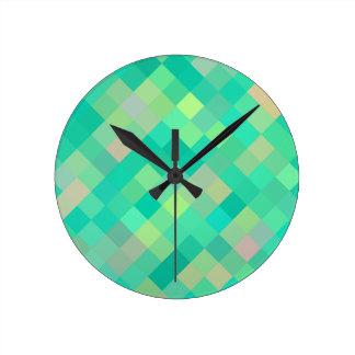 Horloge Ronde Motif d'art de pixel