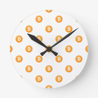 Horloge Ronde Motif de logo de Bitcoin