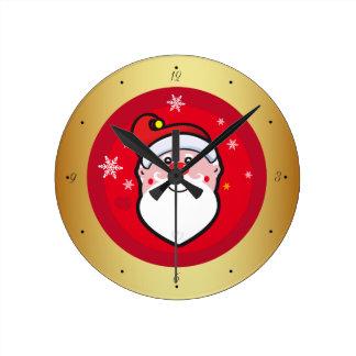 Horloge Ronde Noël le père noël