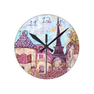Horloge Ronde Nombres de tissu d'horloge de paysage de Tour