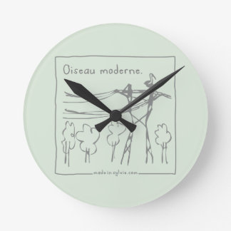 Horloge Ronde oiseau-madeinsylvie