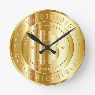 Horloge Ronde Or Bitcoin