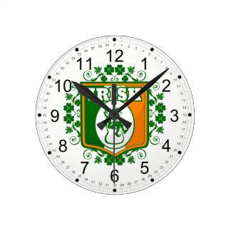 Horloge Ronde Or de lutin de Jour de la Saint Patrick