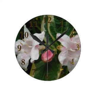 Horloge Ronde paires de fleurs