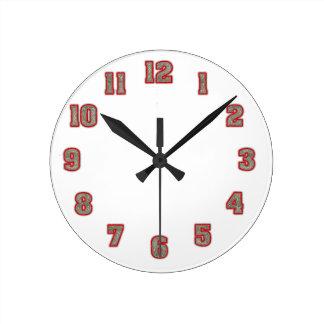 Horloge Ronde Parties scintillantes dans le modèle rouge