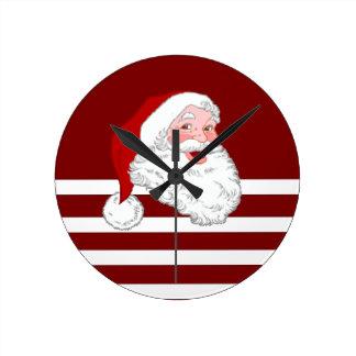 Horloge Ronde Père Noël font face
