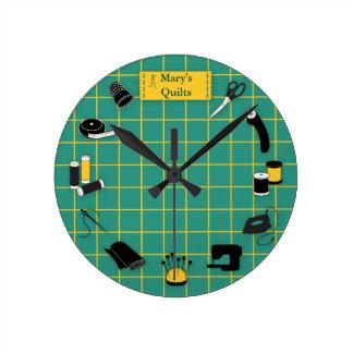 Horloge Ronde Personnaliser de temps d'édredon l'étiquette
