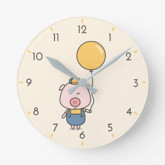 Horloge Ronde Peu porcin
