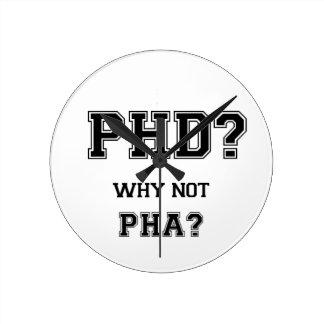 Horloge Ronde PhD ? Pourquoi pas PhA ? Cadeau d'obtention du