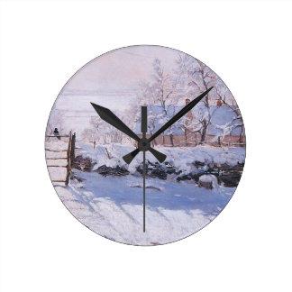 Horloge Ronde Pie de Claude Monet-The